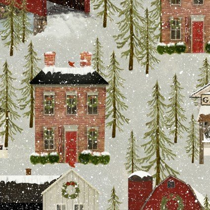 Snow Village - All over stone (houses)