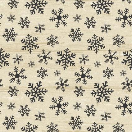 Rustic Village Christmas - Wood flake beige