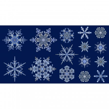 Artful Snowflake - Ice Crystal Panel