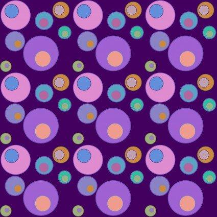 Lizzy Albright Attic Window - Purple Bubbles 6914-60