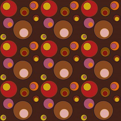 Benartex Lizzy Albright Attic Window Bubbles Brown