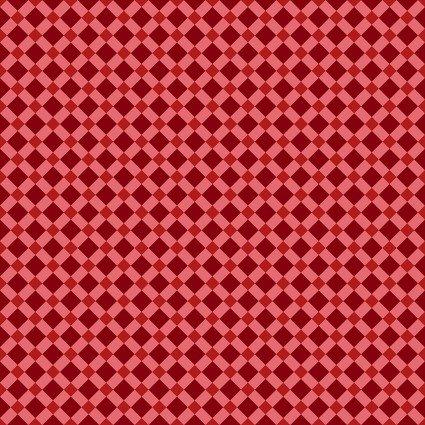 Benartex Lizzy Albright Attic Window Diamond Lattice Red
