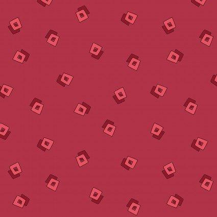 Lizzy Albright Attic Window - Red Pajama Squares 6917-10