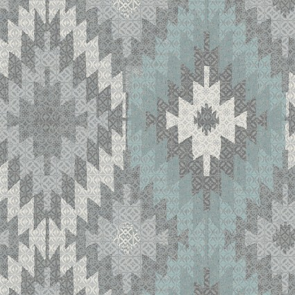 Benartex Modern Lodge 6962-80 Turquoise and Gray Tapestry