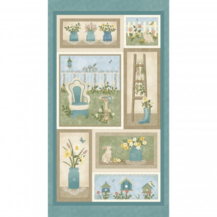 My Secret Garden - Garden Panel Blue