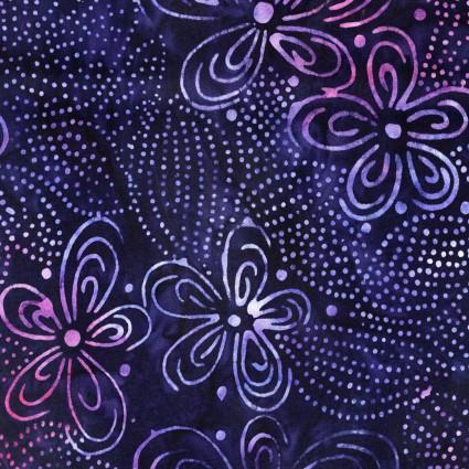 Bali Blooms Dk Purple Batik