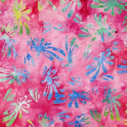 Bali Blooms Pink Multi Batik