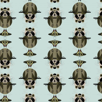 Charley Harper Cats & Raccs Raccrobat