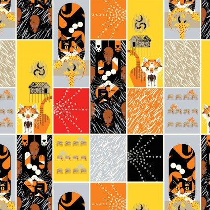 Charley Harper Cats & Raccs Cat and Mouse