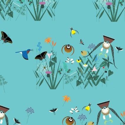 Charley Harper Summer Vol Small Field of Birds