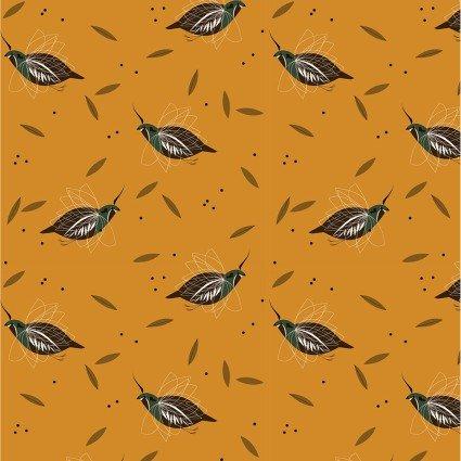 Birch Fabrics Charley Harper Western Birds CH-47 Mountain Quail