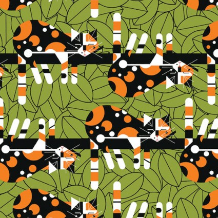 Charley Harper Backyard Limp on a Limb
