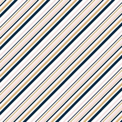 Mod Nouveau Stripe in Blush