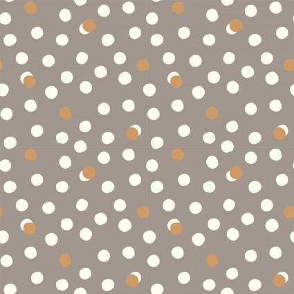 Tonoshi Dot Organic Cotton Poplin - Shroom