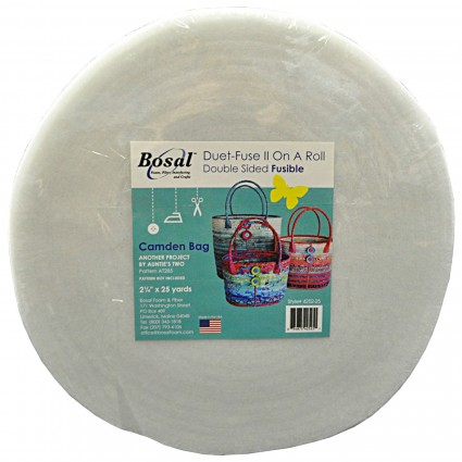 Duet-Fuse II Double Sided Fusible Batting 2.25' x 25 yd
