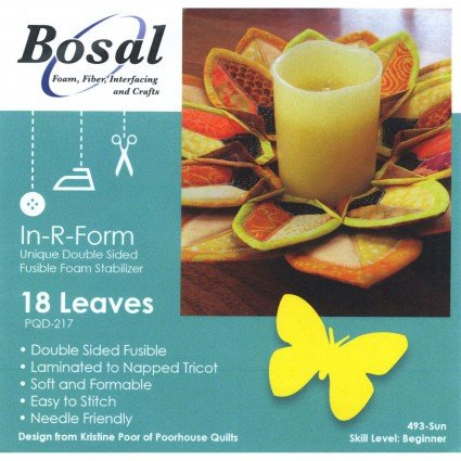 In-R-Form Double-Sided Fusible for Leaf Wreath