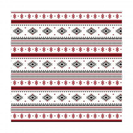 Hudson Blanket Stripe on White