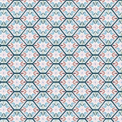 Turtle Cove - Mosaic Tiling Blue/White