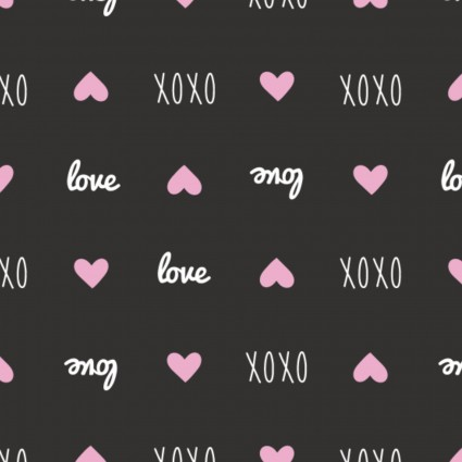 XOXO Sweet Messages Black