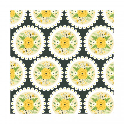 Bright Side Doily Yellow by Camalot