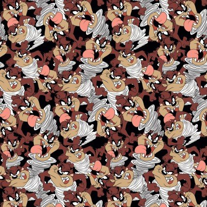 Looney Tunes II Taz Expressions Fabric by the Yard