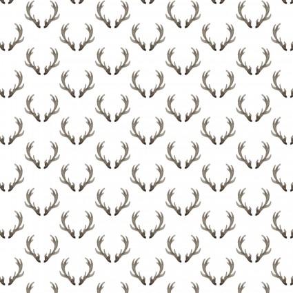 Winter Woods - antlers - cream