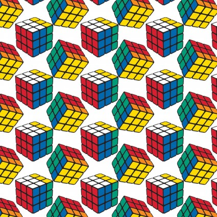 I Love Rubik's Collection - Floating Cubes - White
