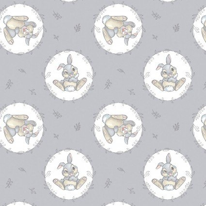 Disney Classic Collection Sweet Thumper on Gray Fabric by the yard