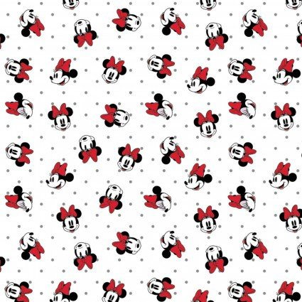 Minnie Mouse Dreaming in Dots - Dots in White