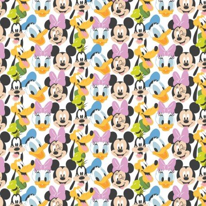 Disney Mickey Mouse Play All Day Here Comes the Fun Fabric by the yard