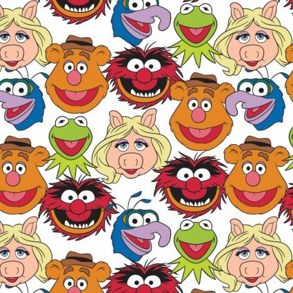 The Muppets Cast on White