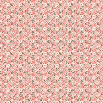 Wish For Rain - Pink Flower Field - By Camelot Fabrics