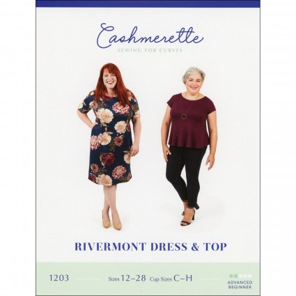 Rivermont Top & Dress - Cashmerette Printed Pattern