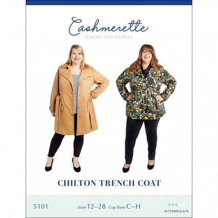 Chilton Trench Coat - Cashmerette Printed Pattern