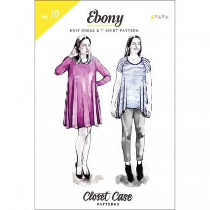Closet Case Files Ebony Knit Dress & T-Shirt Pattern