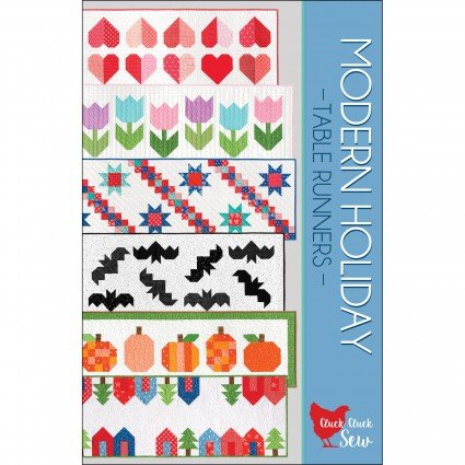 Modern Holiday Table Runners by Cluck Cluck Sew