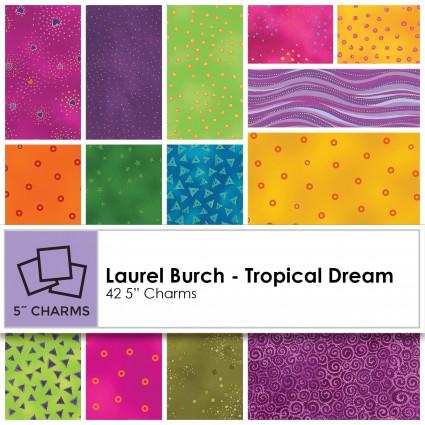 Laurel Burch Precuts - Tropical Dream Charm Squares - CLTSQ0159