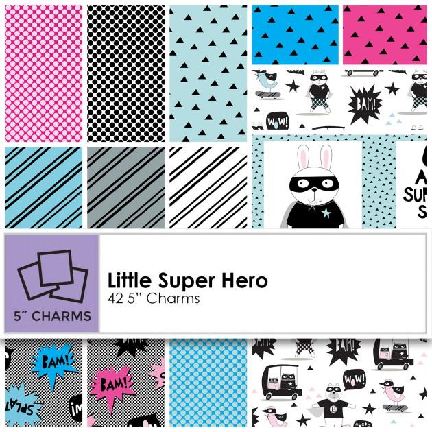 Little Super Hero Charm Squares - CLTSQ0180
