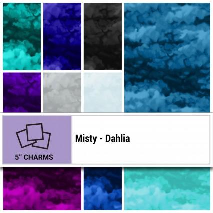 SQ0185 Misty - Dahlia 5 Squares (42) Clothworks