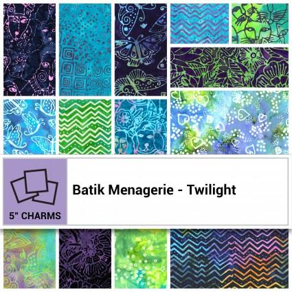 Batik Menagerie - Twilight Charm Pack