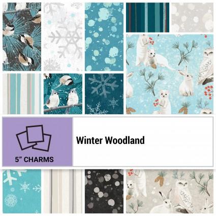 Winter Woodland 5 squares