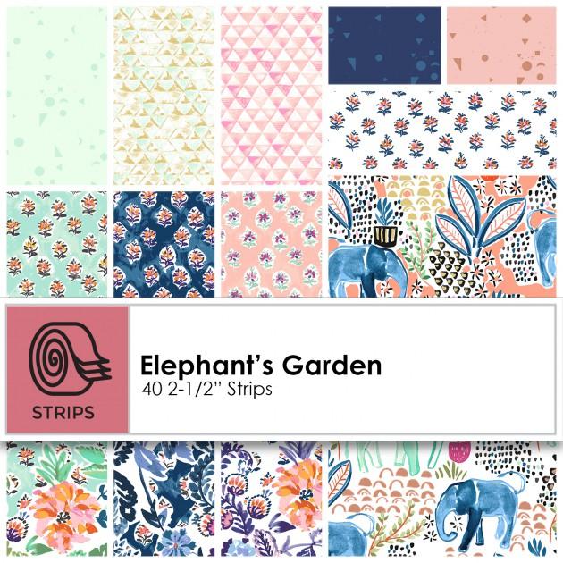 Clothworks - Elephant's Garden 2.5' Strips - CLTST0173