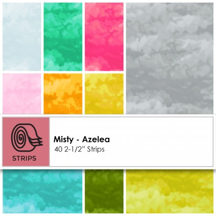 ST0184 Misty Azalea 2-1/2in Strips  40pcs Clothworks