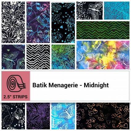 Batik Menagerie - Midnight Jelly Roll