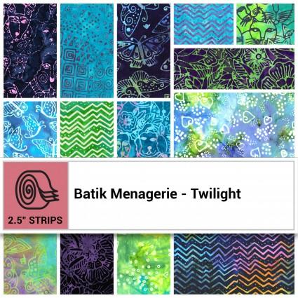 Batik Menagerie - Twilight 2.5 strips