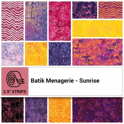 Batik Menagerie - Sunrise Jelly Roll