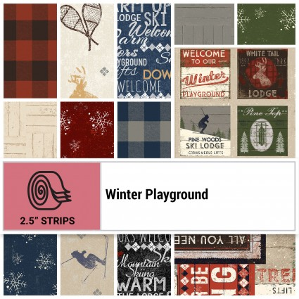 Winter Playground 2.5 Strip Roll