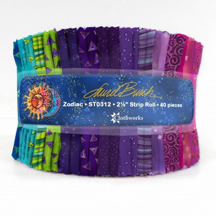 Laurel Burch Precuts - Zodiac 2-1/2 Strips STO312