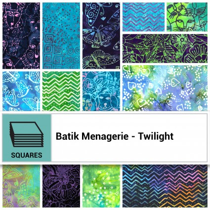 42 10squares Batik Menagerie - Twilight