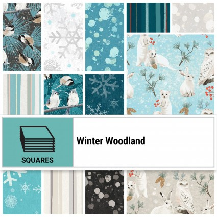 Winter Woodland 10 squares